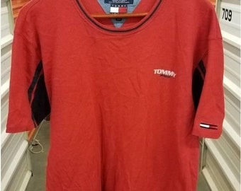New Year SALE 15% Off Vintage 90's Tommy Hilfiger Jeans T-Shirt. Men's Size XL.