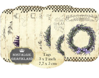 Lavender Tags Lavande Instant Download digital collage sheet digital Tags Lavendula Perfume Soap T190