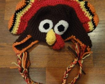 Child's Crochet Turkey Feather Hat