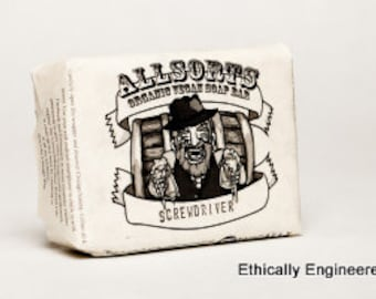 Vegan Organic Allsorts Liquor Scented Soap Bars -- The Screwdriver -- All Natural Ingredients Made In America