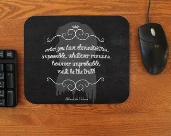 """SHERLOCK  """"The Impossible"""" Rubber  Mouse Pad"""