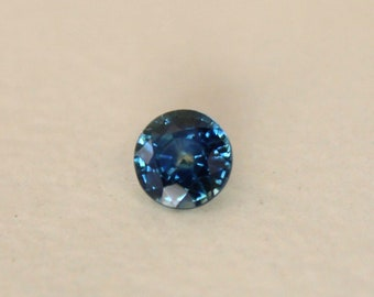 1.11 Cts. Heated Teal Blue MONTANA SAPPHIRE Round Loose Gemstone perfect for ring or pendant with VIDEO,teal blue ,sapphire solitaire