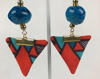 Multi-Color Triangle Earrings