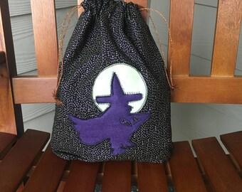Halloween Witch Drawstring Trick-or-Treat Bag, 12.5 x 9.5