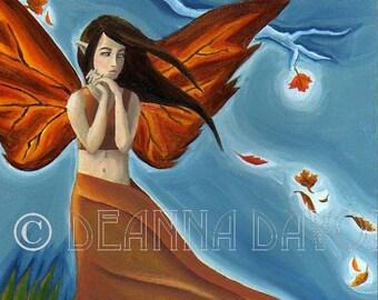 Fantasy ART Print 8x10 Fairy Fairies Faerie Autumn Season