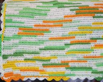 Lemon-Lime-Orange Crochet Baby Blanket