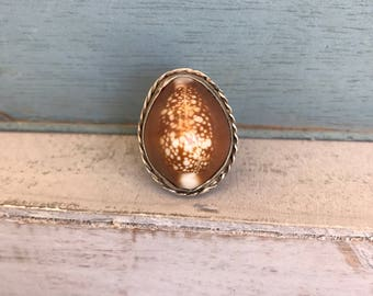 Size 5.75 Conch Shell Sterling Silver Ring