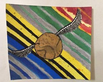snitch watercolor