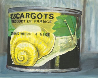 Escargots. Limited edition print by Vivienne Strauss.