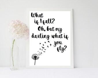 What If I Fall - Print