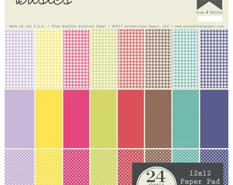 Paper Pad Authentique Micro Basics 24 sheet double sided paper