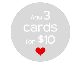 Any 3 cards for 10