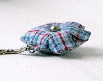 Keychain handsewn patchwork hexagon cute