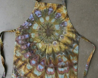 Hand Dyed Apron | Tie Dyed Apron, Tie Dye, Hippie, Chef, Gift For Chef, Cooking, Foodie, Unique Gift, Full Apron, Apron With Pockets, Unique