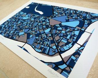 London Art Map - Chelsea, Kensington & Westminster - Limited Edition Contemporary Giclée Print