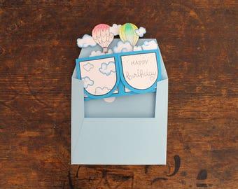 Card in a box, Hot balloon