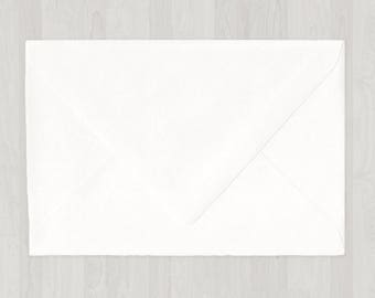 10 A8 Envelopes - Euro Flap - White - DIY Invitations - Envelopes for Weddings & Other Events