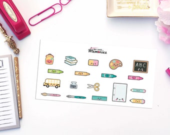 KAWAII SCHOOL THINGS Paper Planner Stickers!