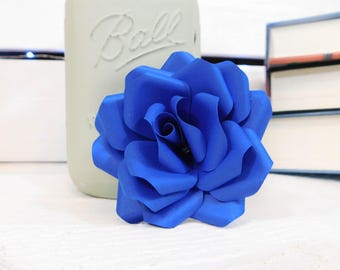 Royal Blue Flowers - Paper flowers with stems - Paper Flower Bouquet - Wedding Bouquet - Mother's Day Gift - Paper Anniversary - Centerpiece