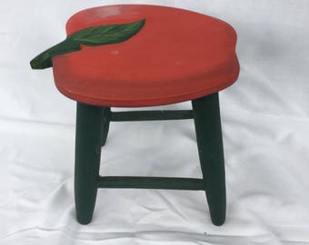 Vintage Wooden Doll Stool,Doll Furniture, Collector Item