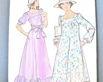 Uncut 70s Butterick 4176 Misses' Dress & Belt  Loose-fitting, slightly flared dress Vintage Sewing Pattern  Bust 31.5