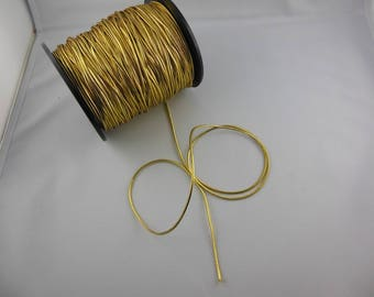 Elastic cord round golden color