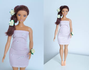 Curvy Barbie clothes/ dress for curvy Barbie/  handmade curvy Barbie clothes / curvy Barbie clothes / curvy Barbie dress