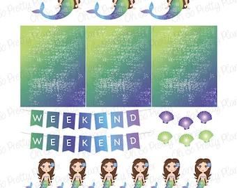 Planner Stickers - Mermaids