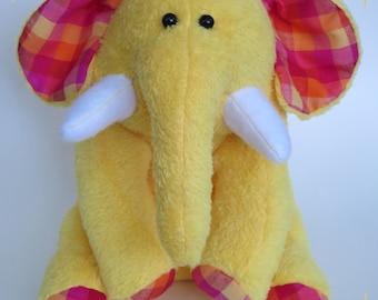 soft plush handmade elephant