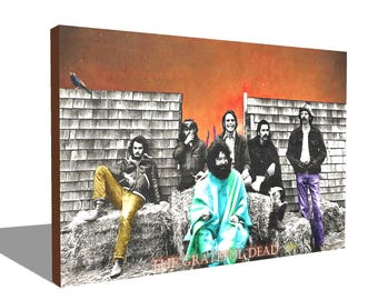 Gratful Dead 1970 100% Cotton Canvas Print Using UV Archival Inks Stretched & Mounted
