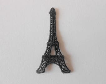 Eiffel Tower in Black Lace of 4.5 x 2.4 cm