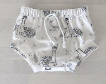 Llama/alpaca baby shorties