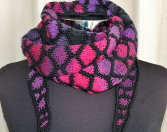 Crocheted Stained Glass shawlette Pattern