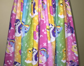 Custom made My Little Pony MLP Friendship Ponies Ombre Inspired fabric Skirt Elastic Wasitband XS S M L XL xxl pick size Made