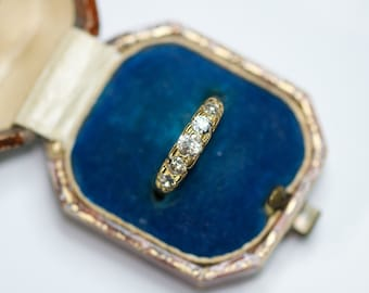 A 18ct Diamond Victorian Ring