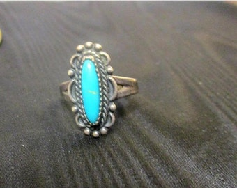 SALE Sterling Silver and Turquoise Ring