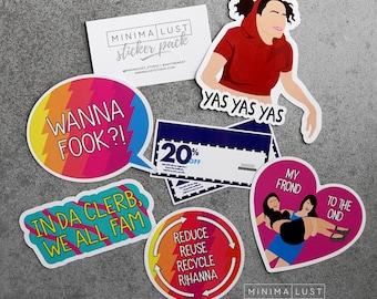 The Broad City Sticker Pack - Abbi and Ilana - Broad City - Broad City Stickers