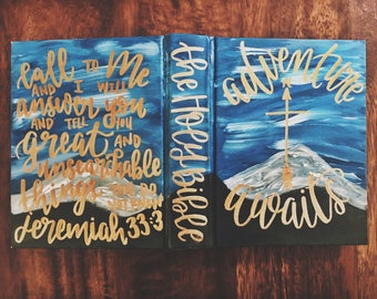 The Sarah Bible // Hand Painted // Landscape // ESV Journaling