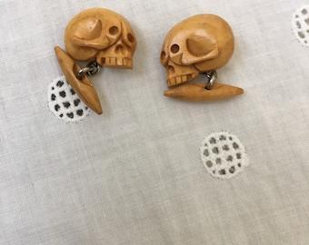 Bakelite Skull cufflinks