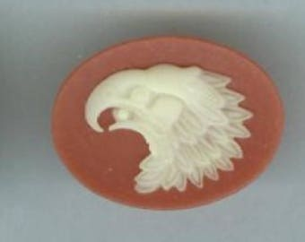 Eagle profile resin cameos, 25mm x 18mm, set of 3 #cam837Q