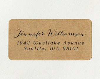 custom return address labels design 01 cursive address