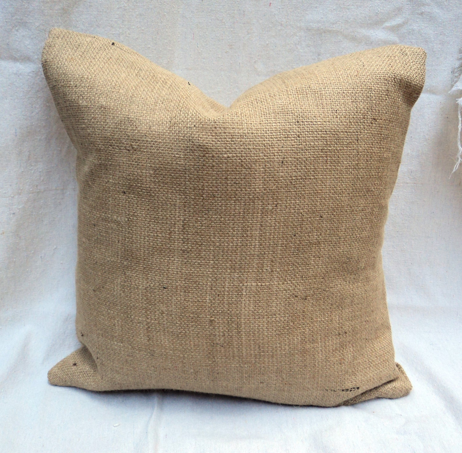 Lined Burlap Euro Shams Burlap Pillow 17 x 17