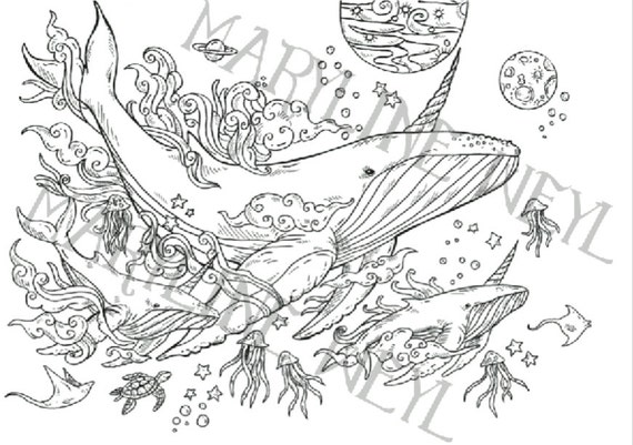 Coloring Book Magical Creatures