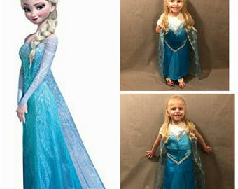 Elsa Inspired Dress Up Apron and Cape