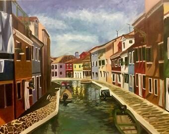 Venice Landscape-ORIGINAL PAINTING