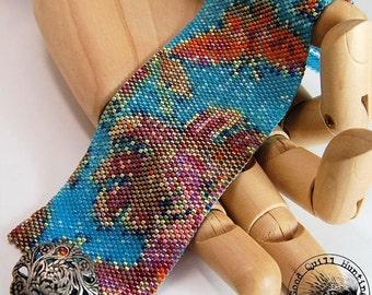 Summer Soiree Peyote Cuff Pattern