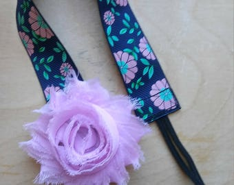 Pink and Blue floral Pacifier Clip Girl Floral Binky Clip Baby Girl Accesory