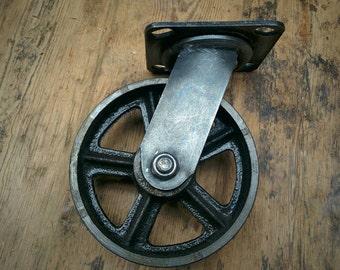 vintage rigid 8 inch caster wheels antique casters set of. Black Bedroom Furniture Sets. Home Design Ideas