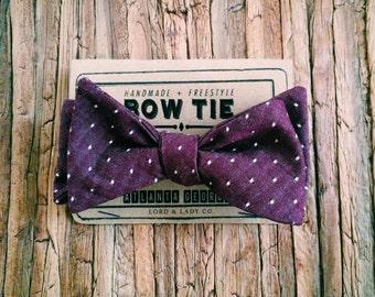 Bow Tie || Plum Dot