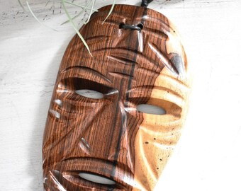 Small Carved Wood Mask/ Tribal Man/Wall Art (TM1)